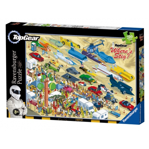 Top Gear Where Stig 200 Piece Jigsaw Puzzle Game