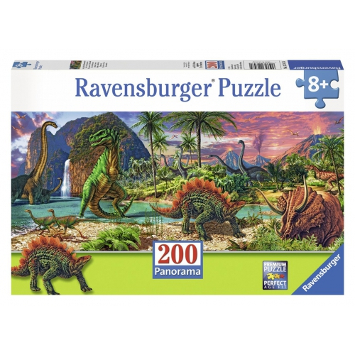 Ravensburger 'In The Land of Dinos' Panorama 200 Piece Jigsaw Puzzle Game