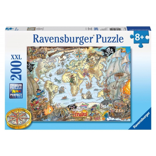 Pirate Map 200 Piece Jigsaw Puzzle Game