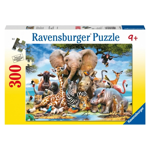 African Friends 300 Piece Jigsaw Puzzle Game
