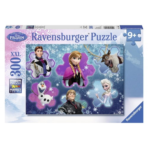 Disney Frozen Cool Character Collage 300 Piece Jigsaw Puzzle Game