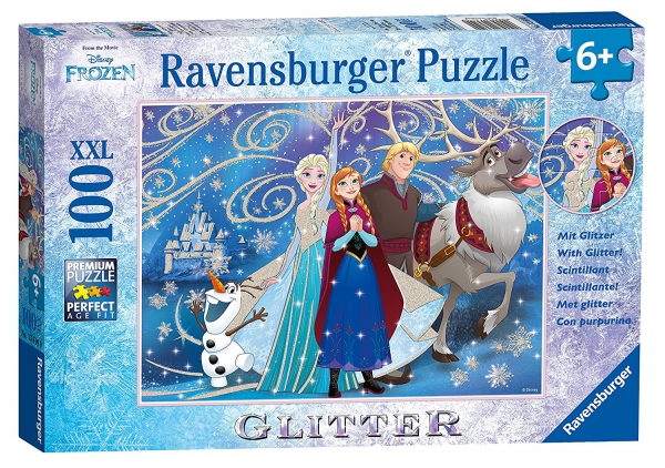 Disney Frozen 'Glitter' XXL 100 Piece Jigsaw Puzzle Game