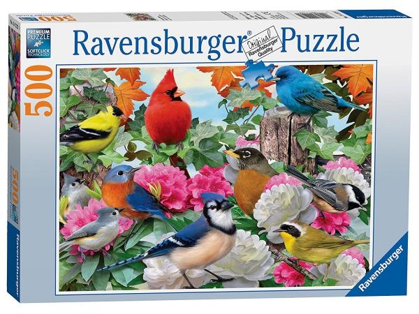 Garden Birds 500 Piece Jigsaw Puzzle Game