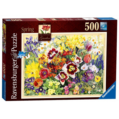 Ravensburger 'The Cottage Garden Spring' 500 Piece Jigsaw Puzzle Game
