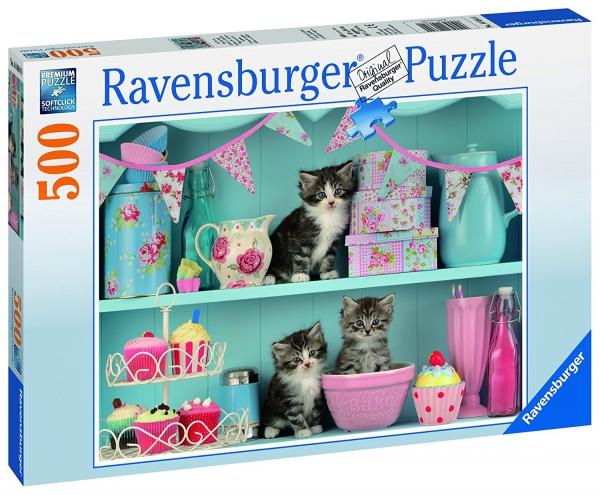 Kittens and Cupcakes 500 Piece Jigsaw Puzzle Game