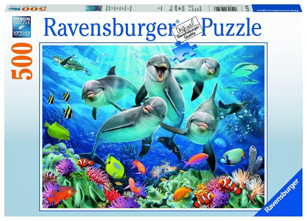 Dolphins 500 Piece Jigsaw Puzzle Game