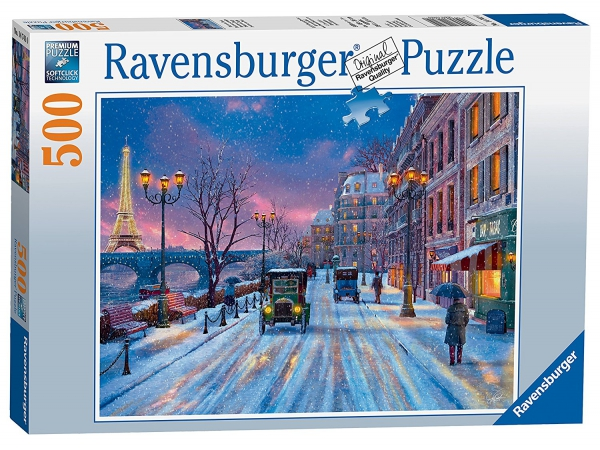 Winter In Paris 500 Piece Jigsaw Puzzle Game