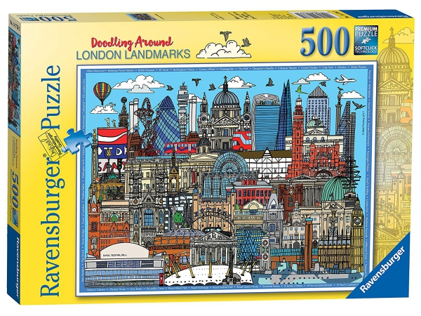 Doodling Around London 500 Piece Jigsaw Puzzle Game