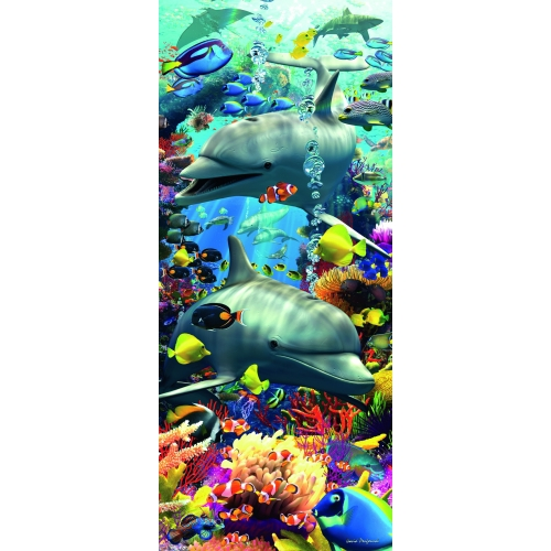 Swimming Dolphins 'Panorama' 170 Piece Jigsaw Puzzle Game