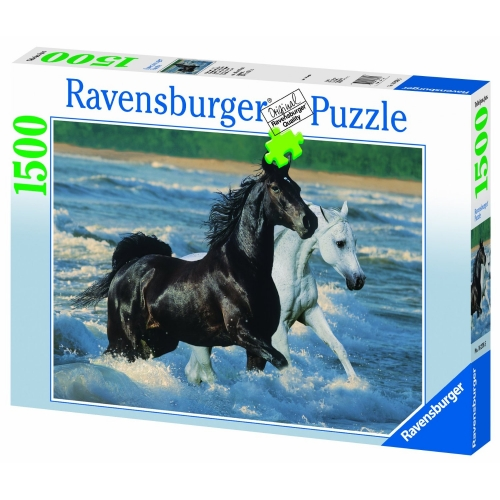 Horses At The Seaside 1500 Piece Jigsaw Puzzle Game
