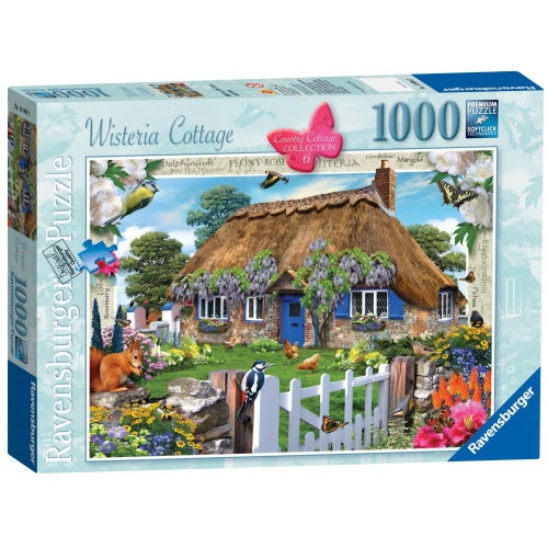 Ravensburger Country Cottage Collection 6 Wisteria 1000 Piece Jigsaw Puzzle Game