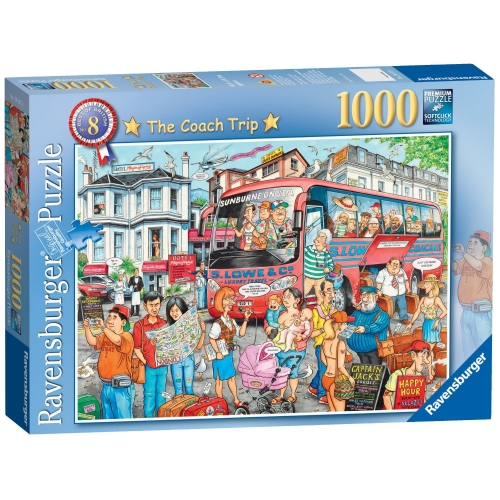 Best of British 'The Coach Trip' 1000 Piece Jigsaw Puzzle Game