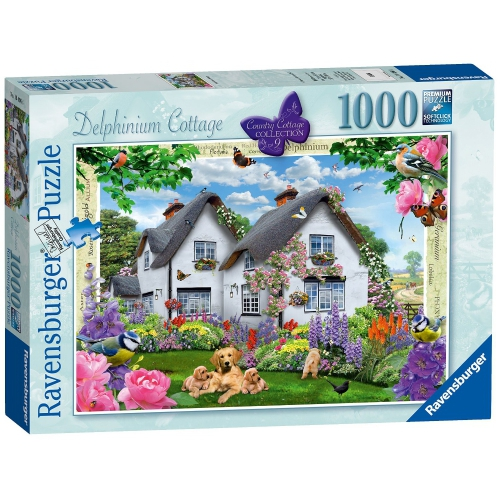 Ravensburger Country Collection Delphinium Cottage 1000 Piece Jigsaw Puzzle Game
