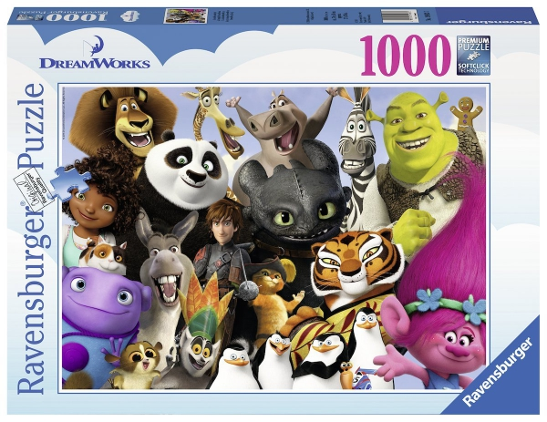Dreamworks 'Family' 1000 Piece Jigsaw Puzzle Game