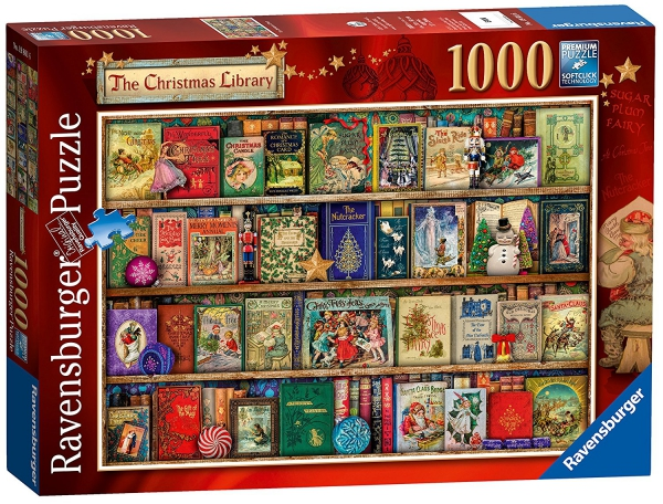 The Christmas Library 1000 Piece Jigsaw Puzzle Game