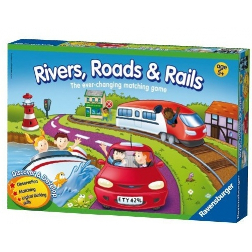Rivers Roads and Rails Puzzle