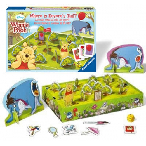 Disney Where Is Eeyore`s Tail? Board Game Puzzle