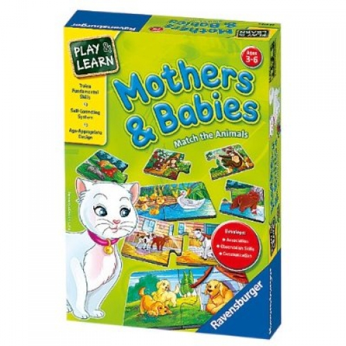 Mothers and Babies Educational Board Game Puzzle