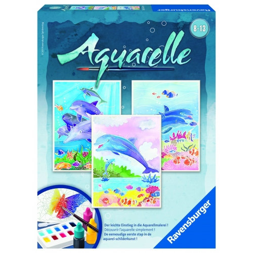 Aquarelle Midi 'Dolphins' Watercolor Stationery