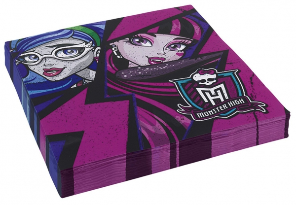 Monster High 20 Pack Napkins Party Accessories