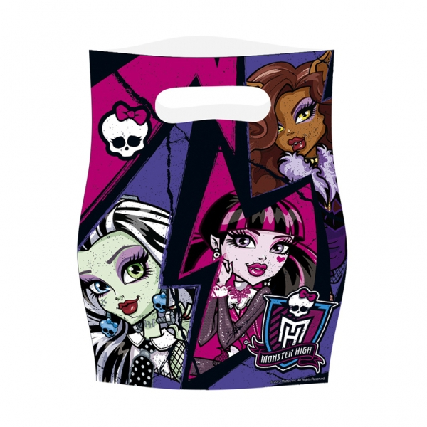 Monster High 6 Pack Loot Bag Party Accessories
