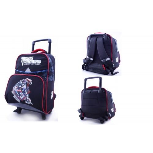 Transformers 'Optimus Prime' School Travel Trolley Roller Wheeled Bag