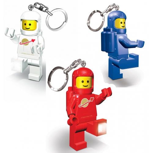 Lego Spaceman 'Red, Blue, White' Assorted Keyring Led Light
