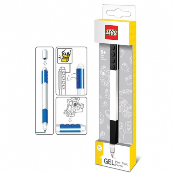 Lego 'Black' Gel Pen Stationery