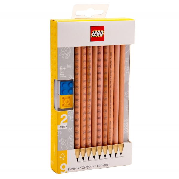 Lego 9 Pack 'Graphite' Pencil Stationery