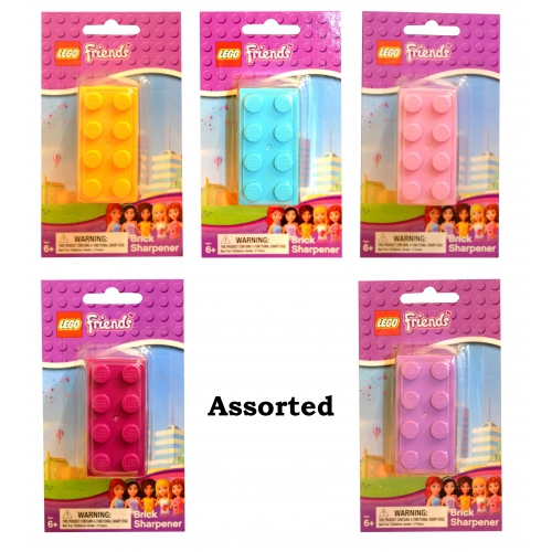 Lego Friends 'Yellow, Blue, Pink, Lilac, Plum' Assorted Sharpener Stationery