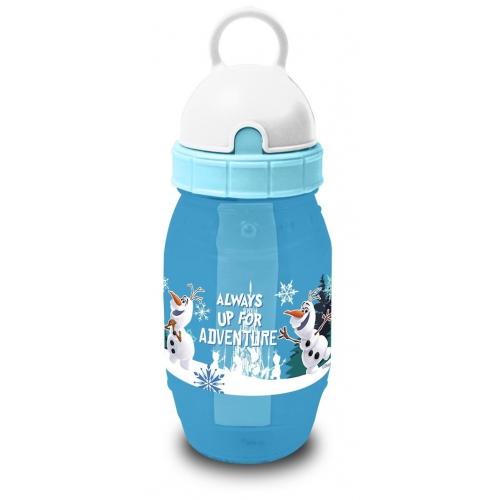 Disney Frozen 'Olaf' Pixie Flip Top Straw Cap Freeze Water Bottle
