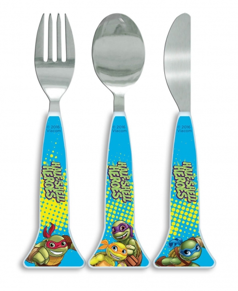 Teenage Mutant Ninja Turtles 'Half Shell Heroes' Triangle Cutlery
