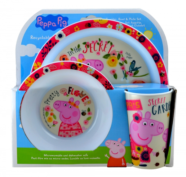 Peppa Pig 'Back To Nature' Dinner Set