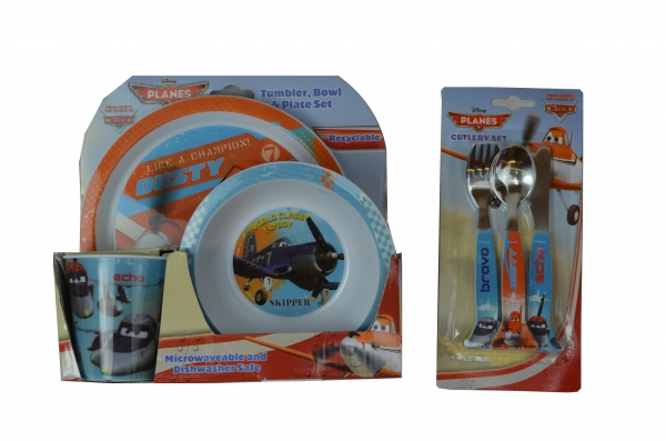 Disney Planes 'Tbp' 2 Piece Tbp and Cutlery Set Dinner