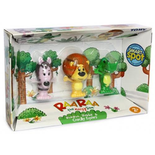 Raa The Noisy Lion 'Zebby, Raa, Crocky' Interactive Figure Pack Toy