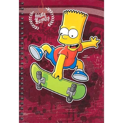 Bart Simpson 'Skate Royalty' Notebook Stationery