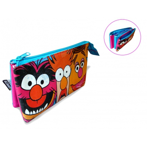 The Muppets '3 Pocket' Pencil Case Stationery