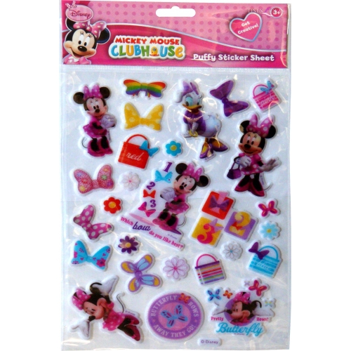 Disney Minnie Mouse Bowtique Padded Sticker Wall Decoration