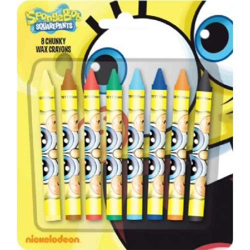 Spongebob Squarepants 8 Pc Crayon Stationery