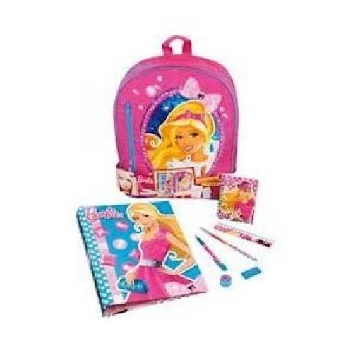 Barbie Filled Stationery School Bag Rucksack Backpack