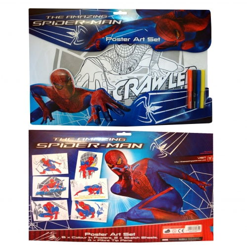 Spiderman 4 'The Amazing' Poster Colouring Set Stationery