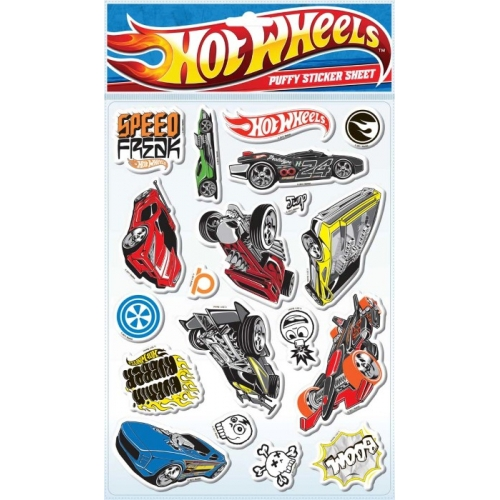 Hot Wheels Padded Sticker Wall Decoration