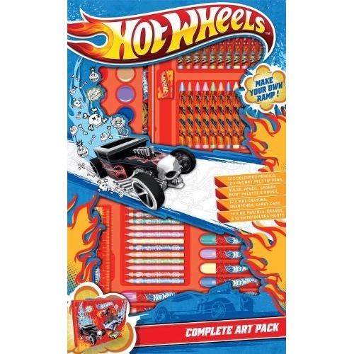 Hot Wheels 67 Pc Complete Art Pack Stationery