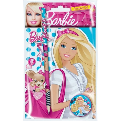 Barbie Scribble Set Stationery