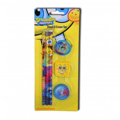 Spongebob Squarepants Pencil & Eraser Set Stationery