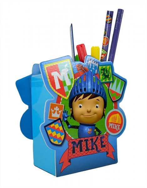 Mike The Knight Filled Desk Tidy Stationery