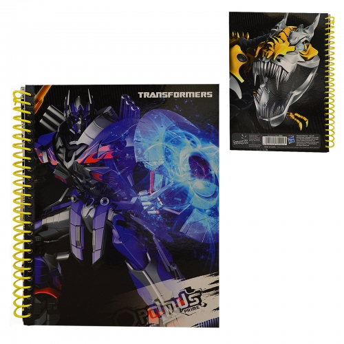 Transformers A5 Spiral Softcover Notebook Stationery