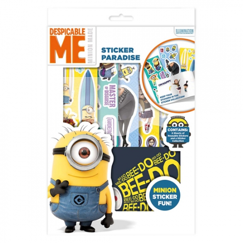Despicable Me Minion Sticker Paradise Stationery