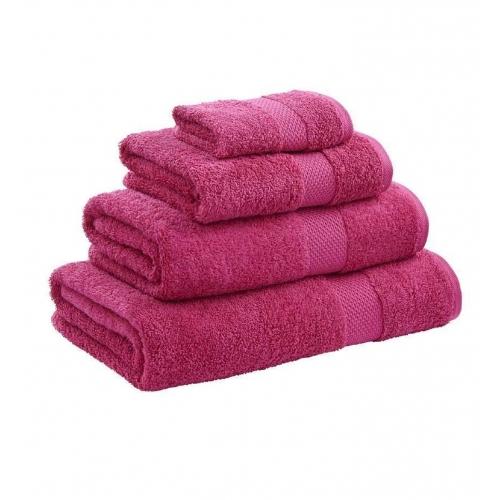 Towel Range Egyptian 550gsm Raspberry Plain Bath Sheet
