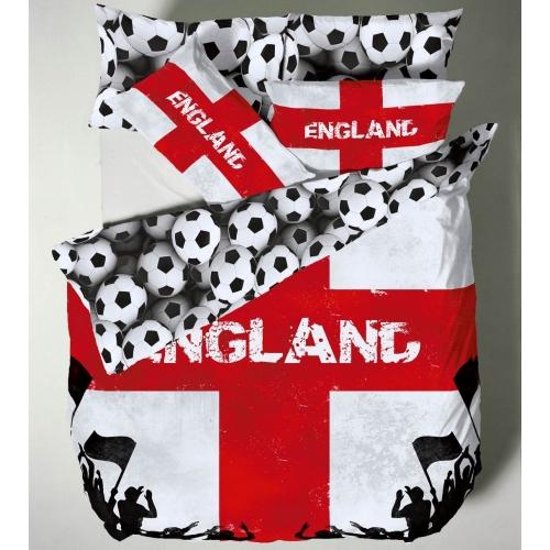 Catherine Lansfield England Multi Half Set Bedding Single Duvet Cover